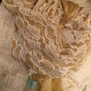 Betsey Johnson Lace Scarf/Wrap